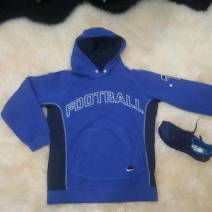 Nike Blue Football Hoodie Boys M (10-12)